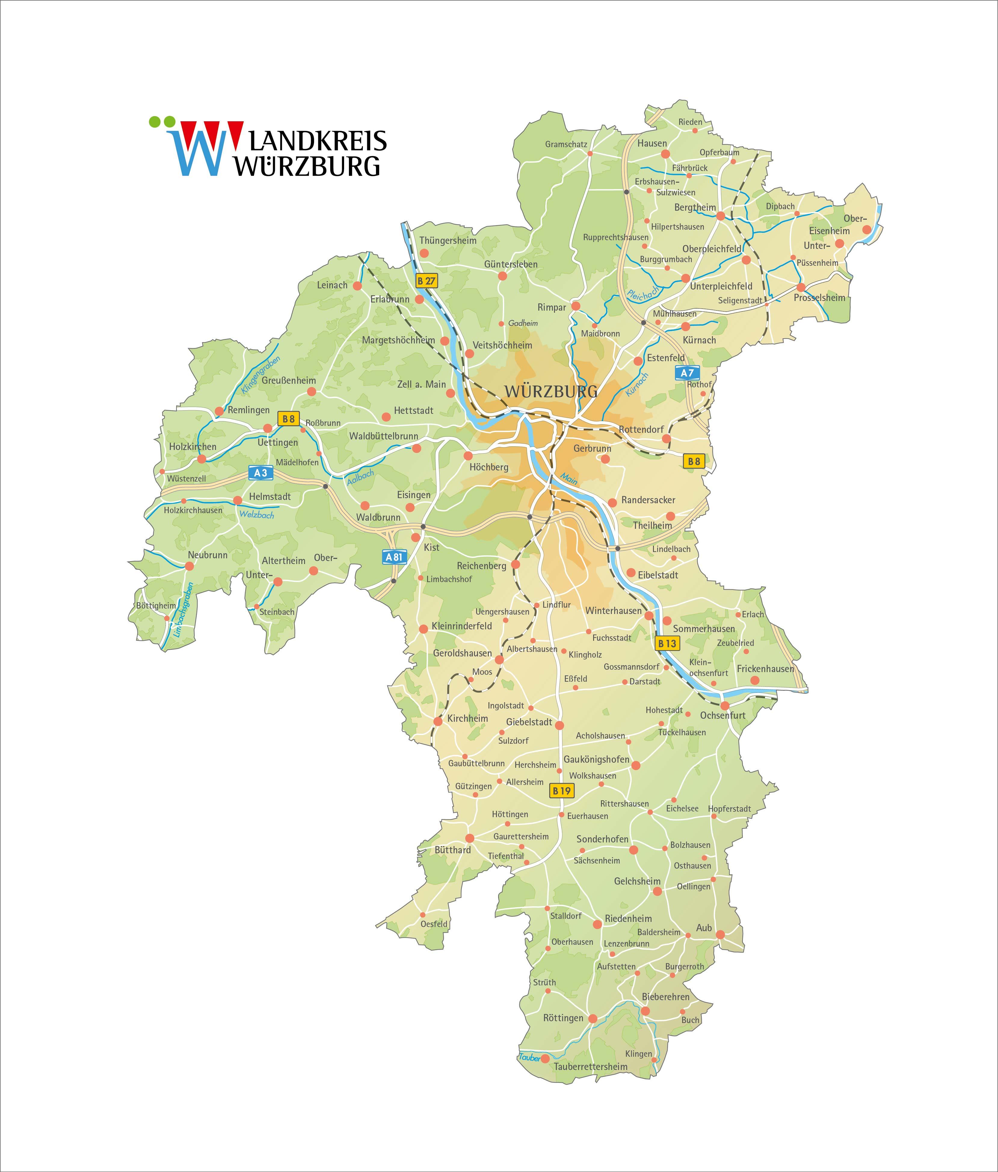 Landkreis Würzburg Karte.Pressestelle Landkreis Würzburg