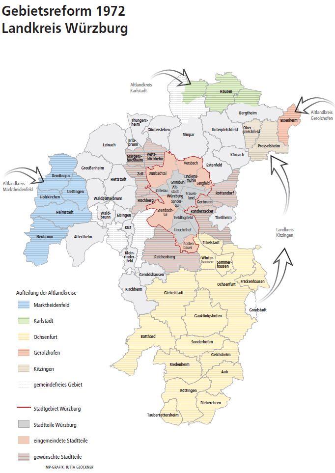 Landkreis Würzburg Karte.Historie Landkreis Würzburg
